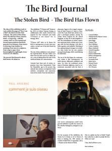 Bird Journal 1st page